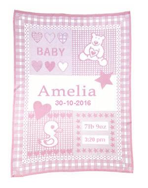 hand mande baby blanket pink