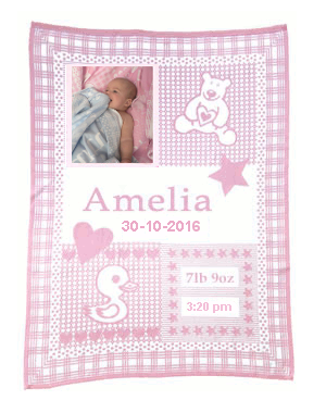 baby photo blanket pink